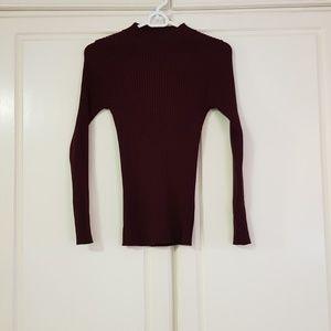 Knit Top / sweater (Brick Brown Magenta)